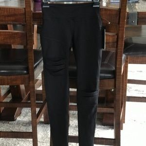 NWT Jessica Simpson Black The Warmup Leggings XS